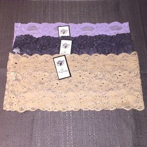 c9272a6a353 Fengrouting Intimates   Sleepwear - NWT 3 Lace Tube Tops Bandeau Stretch  Strapless OS